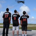 Marlins Air Force Visit