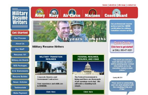 Military to Civilian Resumes - Military Resume Writing Service